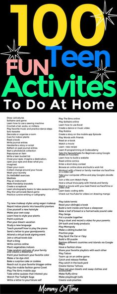 Are you teens complaining of boredom at home? Looking to keep you teenagers busy while home on vacation? Here are 100 fun activities for teens that they can do at home! #parentingtips #funactivitiesforteens #activitiesforteenagers #ideasforteenfun Fun Activites For Teens, Fun Activities To Do, Indoor Activities, Basic Coding, Bucket List For Teens, Online Quizzes, Teen Fun, Words With Friends, 100 Fun