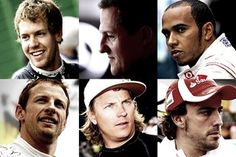 6 World Champions on the grid in 2012. Together they have 14 crowns under their belt. A first.