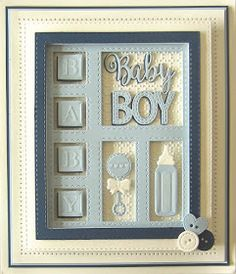 Good Sunday morning all! It's a double day of baby shadow box cards, one for the girls and one for the boys! Both cards today have ...
