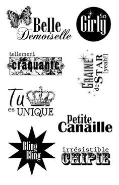 Tampons transparents 'Artemio' Belle Demoiselle 9x14 cm