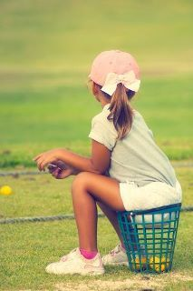 one of my favorite memories as a little girl- driving range with dad/mom
