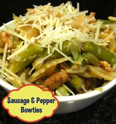 Yummy kid-friendly sausage and pepper pasta recipe! A must try!