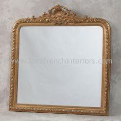 antique mirrors | Antique Gold Overmantle Mirror