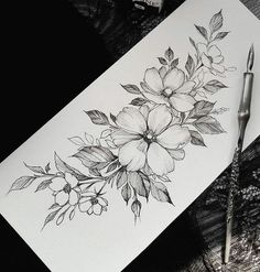 5 Reasons Why You Should Get Tattooed - Full Sleeve Tattoo Desi . - 5 Reasons Why You Should Get Tattooed – Full Sleeve Tattoo Designs – - Tattoo Sketches, Tattoo Drawings, Body Art Tattoos, Female Tattoos, Tattoos Pics, Tattoo Images, Flower Tattoo Designs, Flower Tattoos, Simple Tattoo Designs