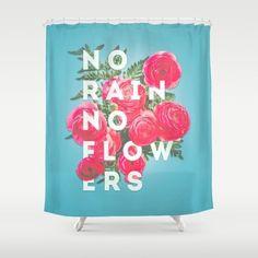 An uplifting shower curtain.