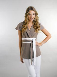 Lara Luxe, Salon Uniforms, Salon Wear, Spa Uniforms, Tuxedo Wrap - Tunics - The Collection