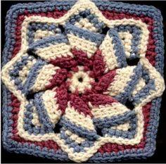 Pinwheel Star Square - Free Crochet Pattern