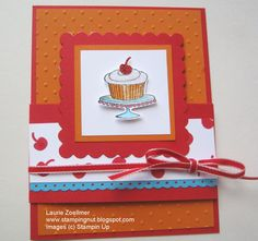 Laurie's Stampin' Spot: Easy Events Birthday Card (SU cupcake builder punch)