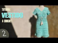 Vestido para mujer tejido a crochet, paso a paso (2 de 3) - YouTube