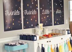 �Twin-kle Twin-kle Little Star� Twin Gender Reveal Baby Shower