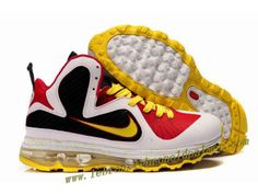 huge inventory 0c7f9 26d2a Nike Lebron 9 MVP Employee of the Year Men s Basketball Shoe 469764 118 Red  Black White Yellow