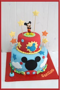TARTA MICKEY MOUSE' HOUSE | Tartas Fondant Zaragoza - Cooking Art