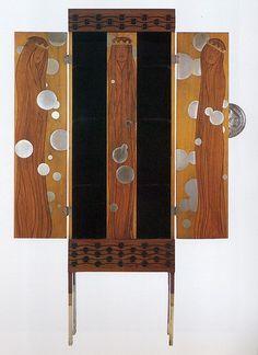 Koloman Moser, Armoire, 1900 by Gatochy Art Furniture, Art Nouveau Furniture, Antique Furniture, Modern Furniture, Furniture Design, Furniture Outlet, Koloman Moser, Jugendstil Design, Arts And Crafts Movement