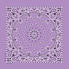 """Paisley Bandanas - Twistedpeace.us Lovely Lavender Paisley 22"""" paisley Bandanna Made in USA One of my favorites even though it looks great on Blondes."""
