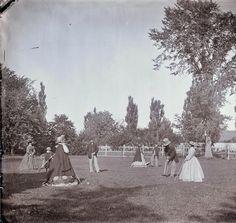 England  Croquet on the lawn c.1863 -Girdwood, Gilbert Prout (1832-1917)