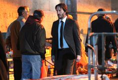 New York on set of John Wick 2 Keanu Reeves John Wick, On Set, Bae, Wicked, Fictional Characters, York, Fantasy Characters, Witch, Witches