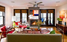 Agréable séjour spacieux et lumineux une déco maison pleine de couleurs