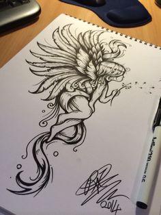One on my tattoo designs ;) - One on my tattoo designs ; Girly Tattoos, Dope Tattoos, Leg Tattoos, Body Art Tattoos, Tattoo Drawings, Small Tattoos, Sleeve Tattoos, Tattos, Fairy Tattoo Designs
