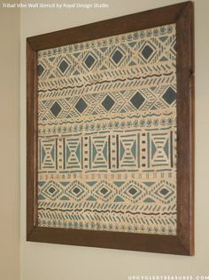 African Décor Ideas Using Tribal Stencils. Simple ArtHome Decor Wall ...