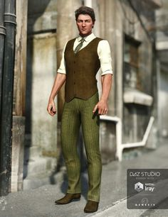 """Daily Content Throwback """"Sophisticate Outfit for Genesis 3 Male(s)"""" #DAZ #DAZ3D #Poser #Throwback #3D #CGI #Nikisatez #Arien"""