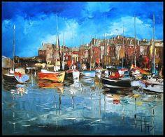 Le port de St Malo   ...   peint par Olivier Pfleger !