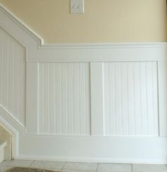 wainscoting with recessed beadboard