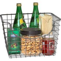 Spectrum Scoop Medium Basket, Cool Gray - Walmart.com