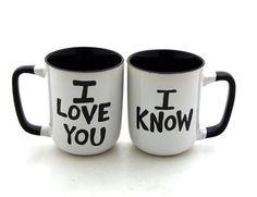 Star Wars R Han Solo and Leia I love you I know Mug Set por Mugoos, $34.00