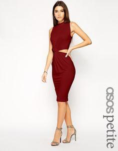 Enlarge ASOS PETITE Exclusive Twist Cut Out Side Body-Conscious Dress