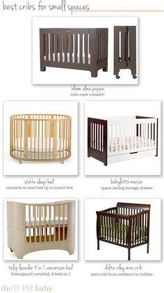 Space becomes a commodity when adding a little one to the house - here thoughts on the best cribs for small spaces • The Wise Baby