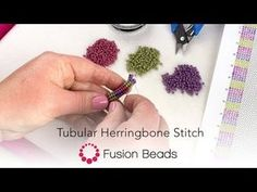 Watch as we guide you through the starting and working through tubular herringbone stitch. Herringbone stitch is also known as Ndebele stitch. The pattern is. Beading Projects, Beading Tutorials, Beaded Jewelry Patterns, Beading Patterns, Fusion Beads, Herringbone Stitch, Beading Techniques, Loom Beading, Jewelry Making