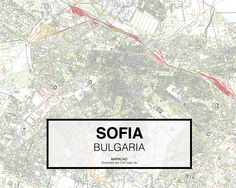 Sofia - Bulgaria. Download CAD Map city in dwg ready to use in Autocad. www.mapacad.com