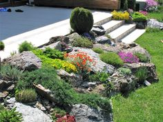 Realizácie skaliek - Aquabiom Beautiful Flowers Garden, Backyard Patio, Pergola, Cottage, Landscape, Plants, Gardening, Future, Gardens