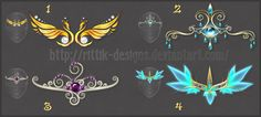 1 - Ghost - owner Crim-Syn 2 - Raven King - owner SoulBeater 3 - Golden Cat - owner Rain-Courage 4 - Queen of Darkness - owner Zaffara DO NOT edit, trace, copy or repost my designs! They belong to ...