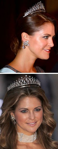 Queen Silvias Dimond flower earings worn by princess madeleine