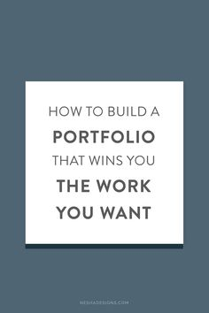 Does your portfolio attract the right kind of clients? Is your portfolio  reflective of your current skill set, or is it outdated? These are  questions I want you to consider as you read today\'s guest post by Hannah.  Hannah is part of Ditto, a creative design and branding agency based here  in