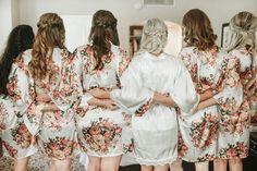 Bridesmaid Gifts/ Floral Bridesmaid Robes/ Wedding Party Gift/ Bridesmaid Robe/ Bridesmaids Robes/ Free Initials/ Set of 7 Robes Bridal Party Robes, Bridal Party Shirts, Gifts For Wedding Party, Bridal Wedding Dresses, Party Gifts, Bridesmaid Robes, Floral Bridesmaids, Davids Bridal Gowns, Indian Bridal Hairstyles