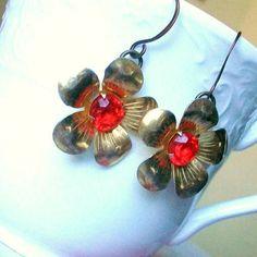 RePurposed Vintage Jewelry Earrings /// Free US by stephsjewels4, $21.00