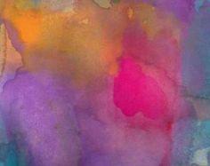 Art Print Large Size Watercolor Daybreak by soveryhappyart on Etsy