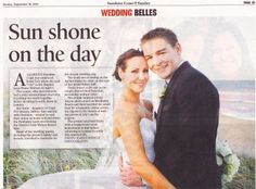Wedding Belles Newspaper by  www.suzanneriley.com.au Suzanne Riley Marriage Celebrant