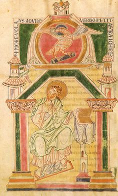 Page featuring St. John - The Arenberg Gospels - late 10th-early 11th century