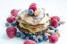 Breakfast inspiration:  gluten free and dairy free banana pancakes with fruit and nuts. Great for the weekend. Recipe on Pimpante.