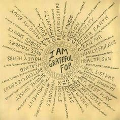 .Great start to a very long list of what I'm grateful for!