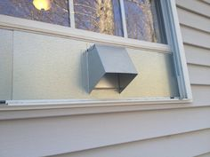 The window dryer vent by Vent Works is perfect for venting dryers, spray booths, laser engraving machines, and virtually anything else with a 4 inch exhaust. Window Inserts, Open Window, Window Vents, Galvanized Steel, Dryer, Laser Engraving, Home Projects, Backsplash