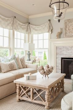 Loose and light valances  House of Turquoise: Casabella Home Furnishings and Interiors