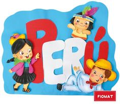Dibujo animado de ni os de la sierra peruana buscar con for Diario mural fiestas patrias chile