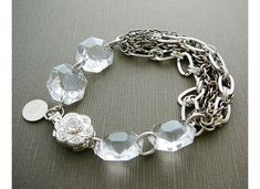 vintage jewlery from DiBA Jewelry (I love the weighty chain balanced out by big crystals!)