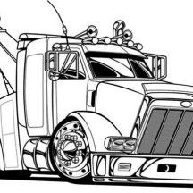 big tow semi truck coloring page - Big Truck Coloring Pages Kids