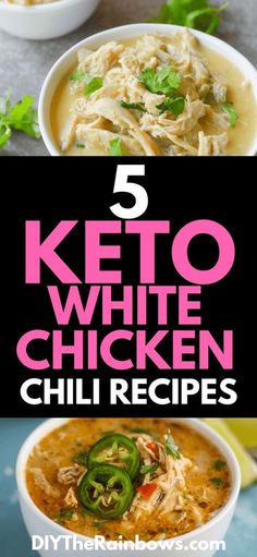 5 Keto White Chicken Chili Recipes: The Best Food for a Chilly Night! - I hope that any of these 5 keto white chicken chili recipes gave you an idea of what you can try cr - Keto Foods, Ketogenic Recipes, Keto Recipes, Healthy Recipes, Diabetic Recipes, Lunch Recipes, Delicious Recipes, Ketogenic Diet, Dessert Recipes