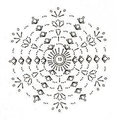 Crochet Diagram, Crochet Motif, Crochet Doilies, Crochet Stitches, Crochet Patterns, Crochet Snowflake Pattern, Crochet Stars, Crochet Snowflakes, Crochet Christmas Decorations